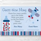 "Airplane Printable Baby Shower ""Guess How Many?"" Game Cards #A112"