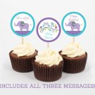 Elephant Owl Forest Cupcake Toppers Party Favor Tags Printable #A100