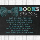 Bow Tie Chalkboard Printable Baby Shower Book Request Cards #A382