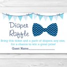 Little Man Chevron Bow Tie Printable Baby Shower Diaper Raffle Tickets #A369