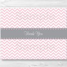 Modern Pink Chevron Thank You Card Printable #A127