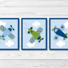 Little Aviator Airplane Printable Nursery Wall Art #A112