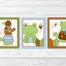 Mod Turtle Frog Pond Pals Printable Nursery Wall Art #A274