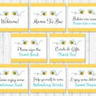 Bumble Bee Baby Shower Table Signs - 8 Printable Signs #A134