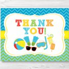Boys Pool Party Thank You Card Printable #A343