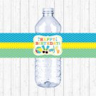 Boys Pool Party Printable Water Bottle Labels #A343