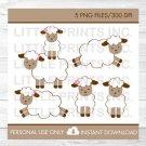 Sweet Little Pink Lambs Clipart #A149