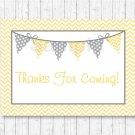 Yellow Chevron Printable Party Favor Thank You Tags #A356