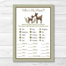 Woodland Deer Baby Shower Baby Animal Match Game Printable #A131