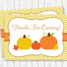 Pumpkin Chevron Gender Neutral Printable Party Favor Thank You Tags #A400