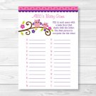 Girl Owl Blossom Pink & Purple Baby Shower Baby ABCs Game Printable #A133