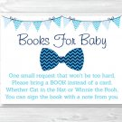 Little Man Chevron Bow Tie Printable Baby Shower Book Request Cards #A369