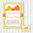 Pumpkin Chevron Gender Neutral How Big Is Mommys Belly Baby Shower Game #A400