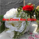 50PCS,wedding bouquet,High simulation silk flower/artificial flower,bride bouquets, 6 rose per bunch