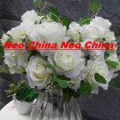 50 PCS,wedding bouquet,High simulation silk flower/artificial flower,6 rose 5 hydrangea per bunch