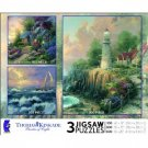 Ceaco Thomas Kinkade 3 in 1 - Seaside Hideaway, Perseverance and Light Of Peace
