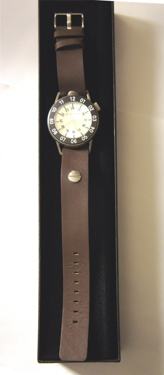 Mercedes-Benz Collection Unisex Leather Strap WATCH