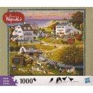 Charles Wysocki Americana Jigsaw Puzzle Riverside Family Reunion  1000 Piece