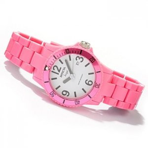 Invicta Women's Angel Pink Candy Quartz Date Window Plastic Bracelet Watch
