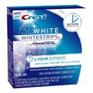 Crest 3D White 2-Hour Express Whitestrips Dental Whitening Kit, 4-Count