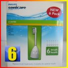 Philips Sonicare Toothbrush e Series Heads Fits: Essence, Xtreme, Elite and Advance - 6 Pack