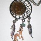 1904 Indian Head Penny Dream Catcher Pendant