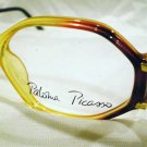 VINTAGE PALOMA PICASSO EYEGLASSES CARAMEL RED BLACK HOT