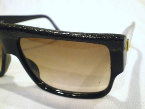ffea69c763d Vintage EMMANUELLE KHANH EK SUNGLASSES BLACK SNAKE SKIN