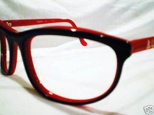 VINTAGE BULA USA EYEGLASSES RED BLACK ATTITUDE GLASSES