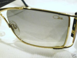 NEW CAZAL 961 SUNGLASSES GOLD BLACK RED GERMANY UNIQUE