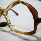 VINTAGE CIVA EYEGLASSES UNIQE 52-20 CLEAR BROWN VINDYA