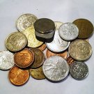 LOT 1/2 pound AUTHENTIC WORLD COINS NICE NEW HOBBY