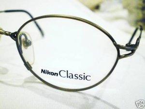 NEW NIKON CLASSIC EYEGLASSES 49-17-135 PEWTER