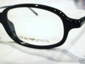 NEW EMPORIO ARMANI EYEGLASSES MOD.586 48-18-140 BLACK
