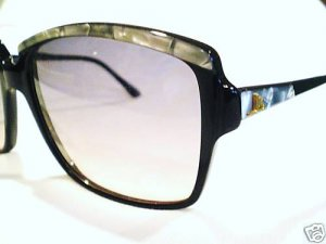 VINTAGE JR SCHERRER PARIS LARGE SUNGLASSES BLACK GREY