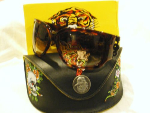 NEW ED HARDY SUNGLASSES EHS025 Geisha & Dragon