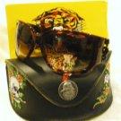 NEW ED HARDY SUNGLASSES EHS025 Geisha & Dragon