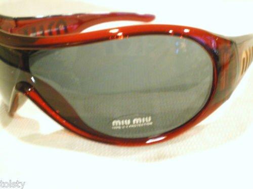NEW MIU MIU SHIELD SUNGLASSES BURGUNDY  MOD.SMU02F