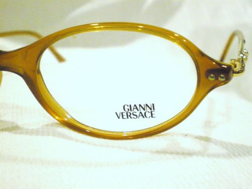 NEW GIANNI VERSACE EYEGLASSES  CARAMEL GOLD MOD.V30