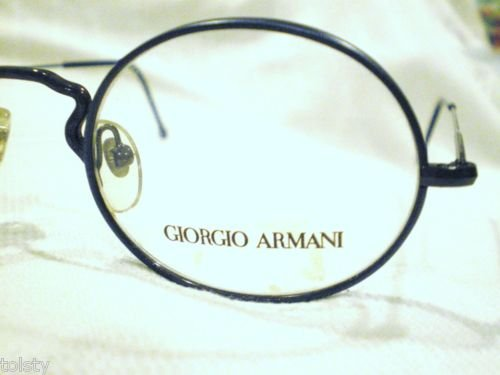 VINTAGE GIORGIO ARMANI EYEGLASSES METALLIC BLUE MOD247