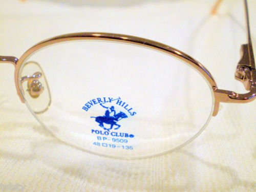VINTAGE POLO CLUB RIMLESS EYEGLASSES GOLD 48-19-135