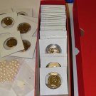 COIN COLLECTORS JEWELS GOLD NUGGETS PEARLS COINS IN BOX