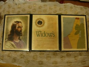 JESUS CHRIST ROMAN WIDOWS MITE PORTFOLIO CATHOLIC BIBLE