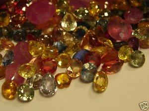 DIAMONDS RUBYS SAPPHIRES WHOLESALE LOOSE GEM LOT MIXED
