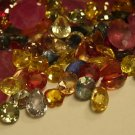 DIAMONDS RUBIES SAPPHIRES FACETED CUT LOOSE MIXED GEMS