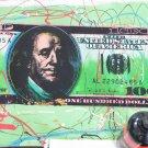 RARE $100 STEVE KAUFMAN SIGNED W COA AMAZING ART PIECE!