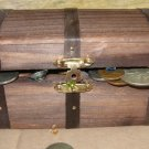 TREASURE CHEST FULL VINTAGE US COINS & JEWELS GEMSTONES