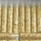 LOT OF 10 - GOLD LEAF FLAKE VIALS PROSPECTING ORE SCRAP