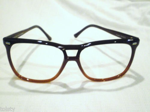 VINTAGE RD HAWAII AVIATOR EYEGLASSES PLUM  56-15-140