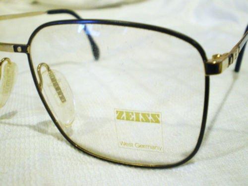 Vintage ZEISS EYEGLASSES BLACK GOLD 57-18  W.GERMANY